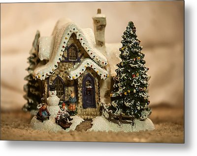 Metal Print featuring the photograph Christmas Toy Village by Alex Grichenko