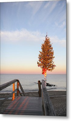 Christmas Tree At The End Of Sandwich Metal Print by Susan Pease