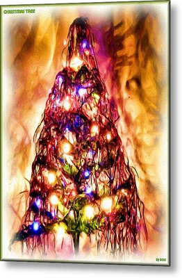 Metal Print featuring the digital art Christmas Tree by Daniel Janda