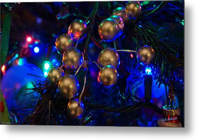 Christmas Tree Detail 1 Metal Print by Mick Anderson