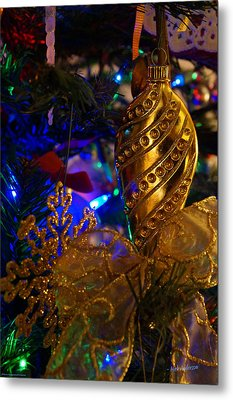 Christmas Tree Detail 2 Metal Print by Mick Anderson