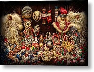 Christmas Tree Ornaments Metal Print by Lee Dos Santos