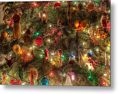 Metal Print featuring the photograph Christmas Tree Ornaments by Sonny Marcyan