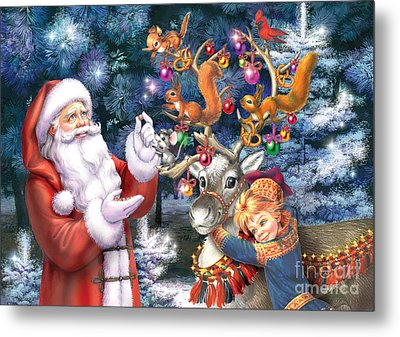 Christmas Tree-rudolph Metal Print by Zorina Baldescu