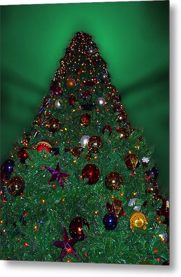 Christmas Tree Metal Print by Thomas Woolworth