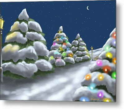 Christmas Trees Metal Print by Veronica Minozzi