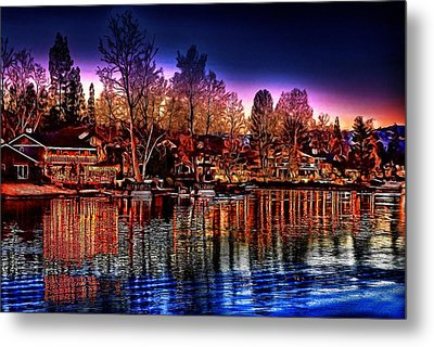 Christmas Twilight Metal Print by Cary Shapiro