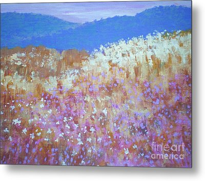 Metal Print featuring the painting Christmas Valley Oregon by Suzanne McKay