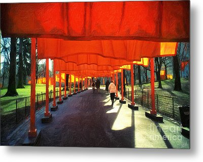 Christo - The Gates - Project For Central Park Metal Print by Nishanth Gopinathan