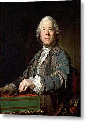 Christoph Willibald Gluck 1714-87 At The Spinet, 1775 Oil On Canvas Metal Print