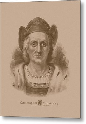 Christopher Columbus Metal Print by War Is Hell Store