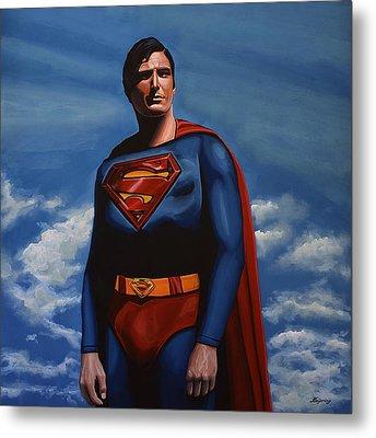 Christopher Reeve As Superman Metal Print by Paul Meijering