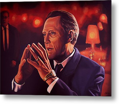 Christopher Walken Painting Metal Print by Paul Meijering