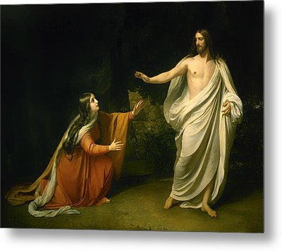 Christs Appearance To Mary Magdalene After The Resurrection Metal Print by Alexander Andreyevich Ivanov
