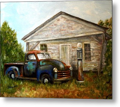 Chromatic Chevy Metal Print by Sandra Nardone