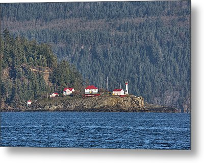 Chrome Island Light Station Metal Print