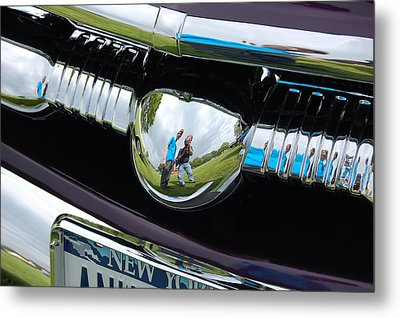 Chrome Reflection Metal Print