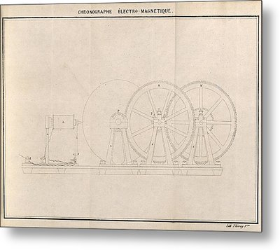 Chronograph, 19th Century Artwork Metal Print by Science Photo Library