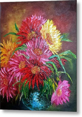 Chrysanthemum Metal Print by Katia Aho