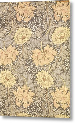 Chrysanthemum Metal Print by William Morris