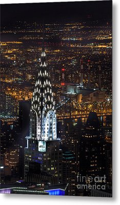 Chrysler Buiilding Metal Print by John Farnan