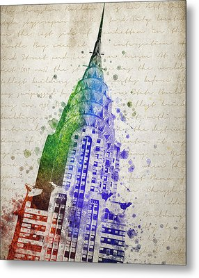 Chrysler Building Metal Print by Aged Pixel