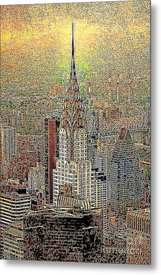 Chrysler Building New York City 20130425 Metal Print by Wingsdomain Art and Photography