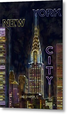 Chrysler Building New York City Nyc Metal Print by Susan Candelario