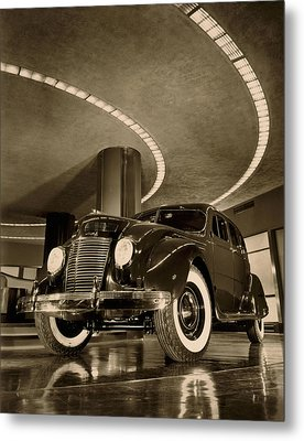 Chrysler Building Showroom Metal Print by Underwood Archives