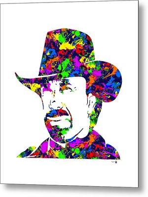 Chuck Norris Paint Splatter Metal Print