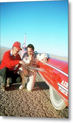 Chuck Yeager And Stan Barrett Metal Print by Us Air Force