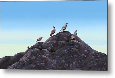 Chuckers - Calling In The Flock Metal Print by Laird Roberts