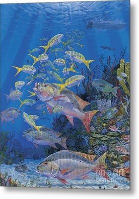 Chum Line Re0013 Metal Print by Carey Chen