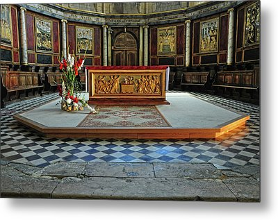 Metal Print featuring the photograph Church Alter Provence France by Dave Mills