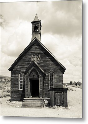 Metal Print featuring the photograph Church At Bodie by Jim Snyder