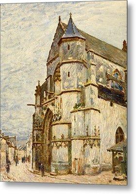 Church At Moret After The Rain Metal Print