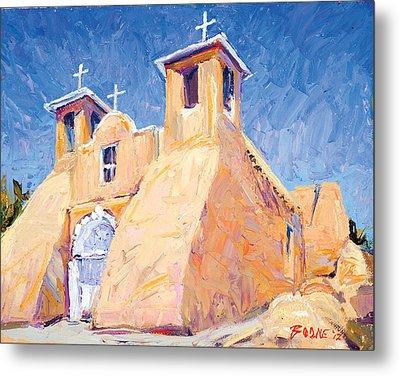 Church At Taos Metal Print by Steven Boone