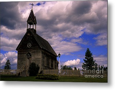 Church At The Okeefe Ranch Metal Print by Bob Christopher