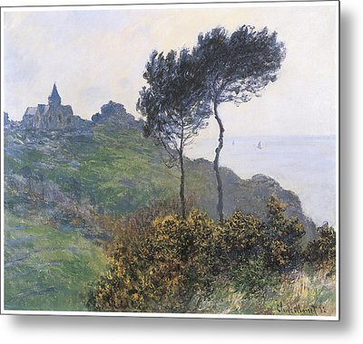 Church At Varengeville Metal Print by Claude Monet