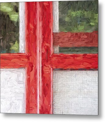 Church Camp House Detail Painterly Series 11 Metal Print by Carol Leigh