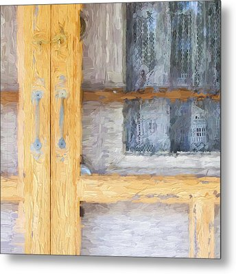 Church Camp House Detail Painterly Series 14 Metal Print by Carol Leigh