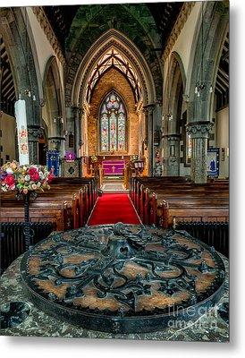 Church Font Metal Print by Adrian Evans