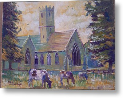 Church In Adare Metal Print by Paul Weerasekera