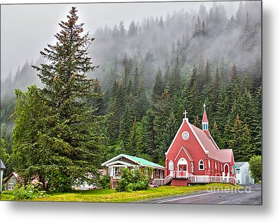 Church In Seward Alaska Metal Print