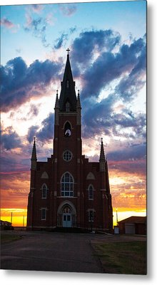 Metal Print featuring the photograph Silouette Of Faith by Shirley Heier