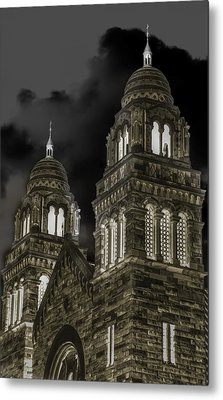 Church Lights On St. Peter Cathedral Metal Print by Optical Playground By MP Ray