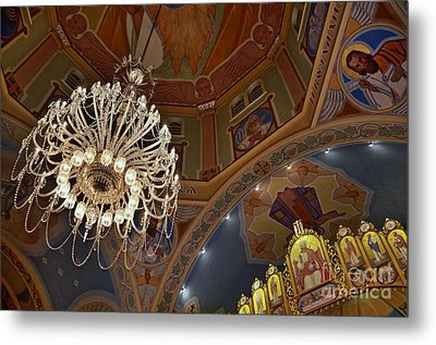 Church Lights Metal Print by Sarah Mullin