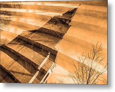 Church Mixed With Staircase Metal Print