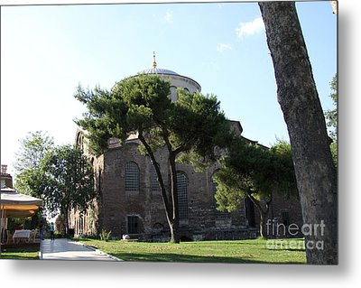 Church Of Hagia Eirene I - First Courtyard Topkapi Palace Metal Print by Christiane Schulze Art And Photography