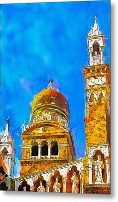 Metal Print featuring the painting Church Of Madonna Dell'orto by Greg Collins